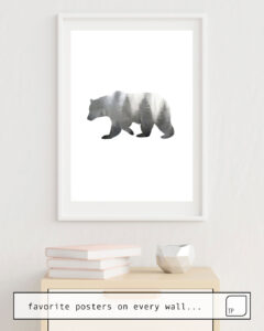 The photo shows an example of furnishing with the motif BEAR by Art by ASolo as mural