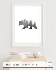 La photo montre un exemple d'ameublement avec le motif BEAR par Art by ASolo comme peinture murale
