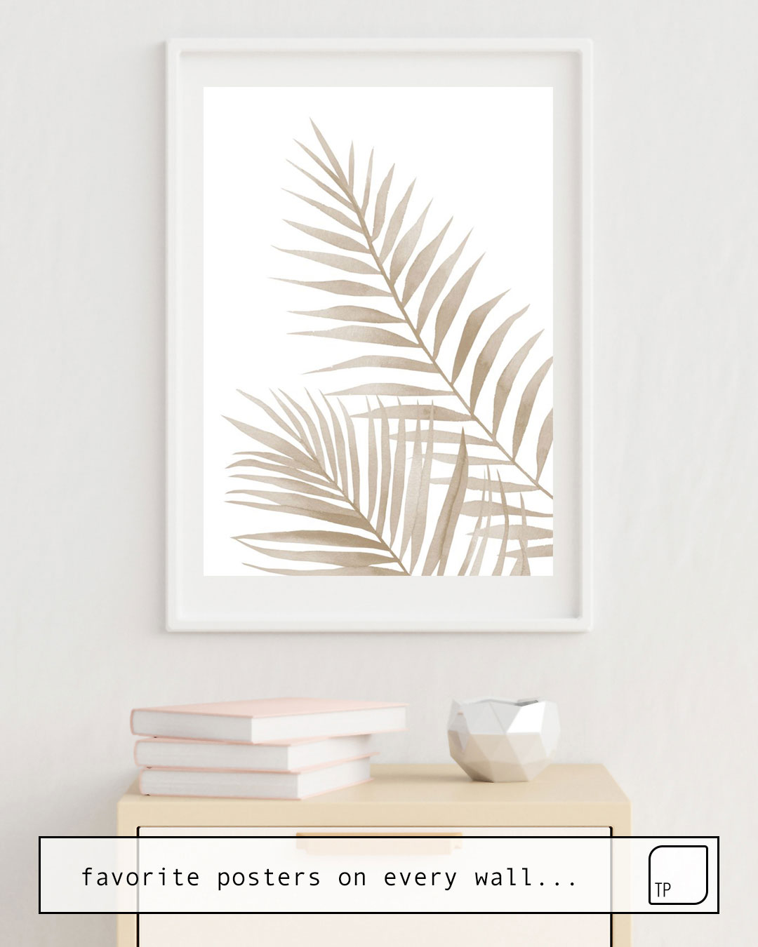 Poster | BEIGE LEAVES von Art by ASolo