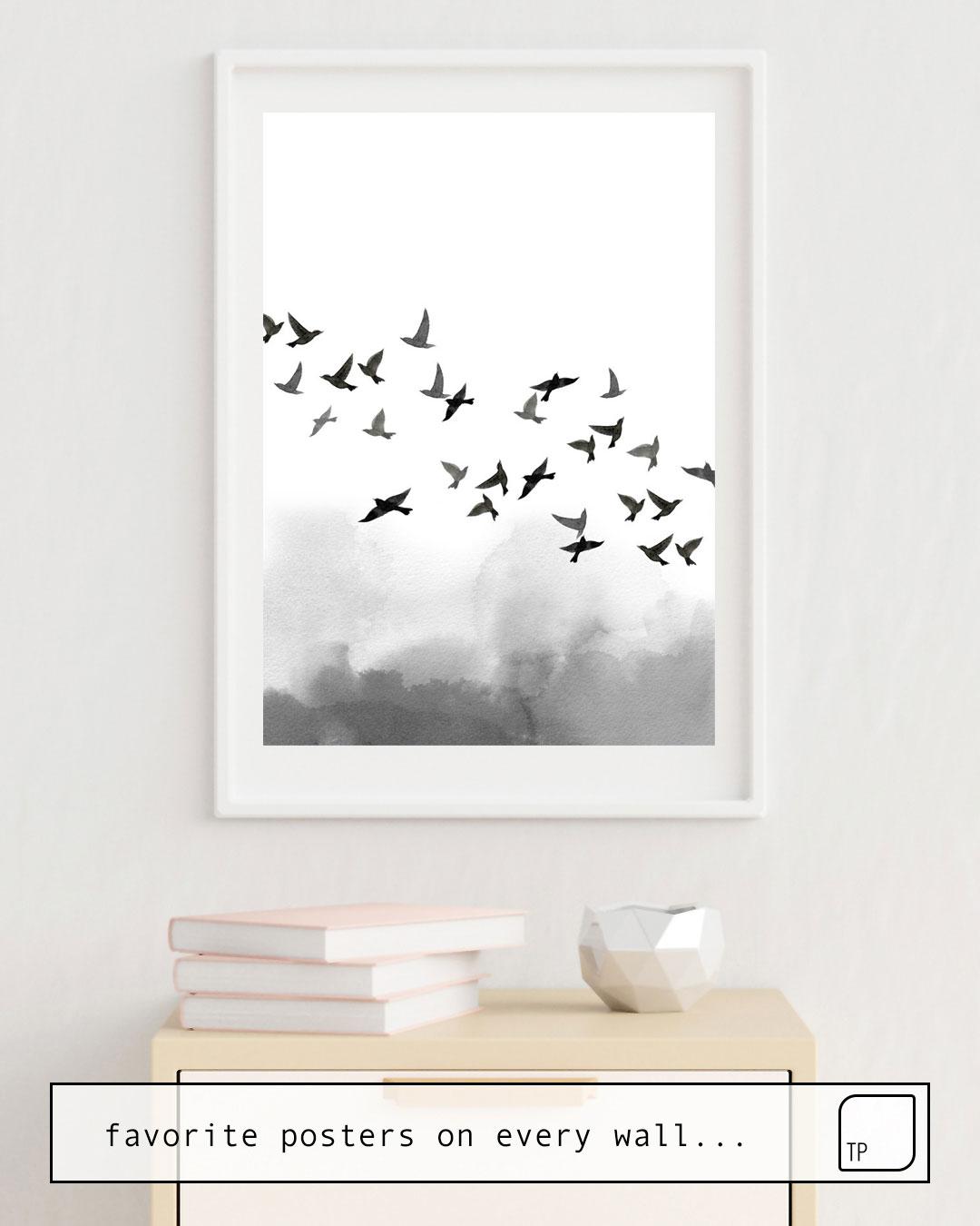Poster | BIRD FLOCK von Art by ASolo