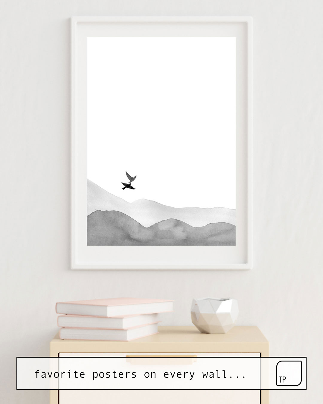 Poster | BIRDS AND HILLS von Art by ASolo