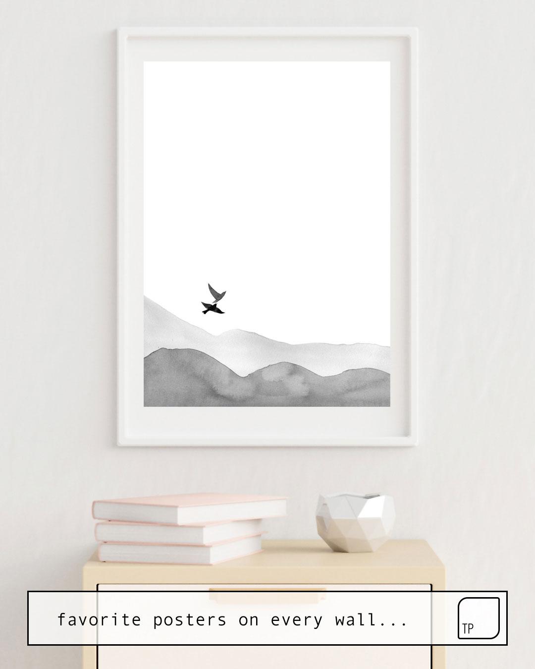 Cartel | BIRDS AND HILLS de Art by ASolo