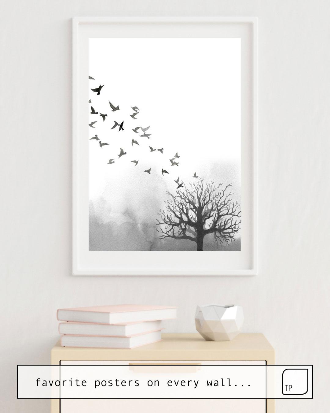 Cartel | BIRDS AND TREE de Art by ASolo