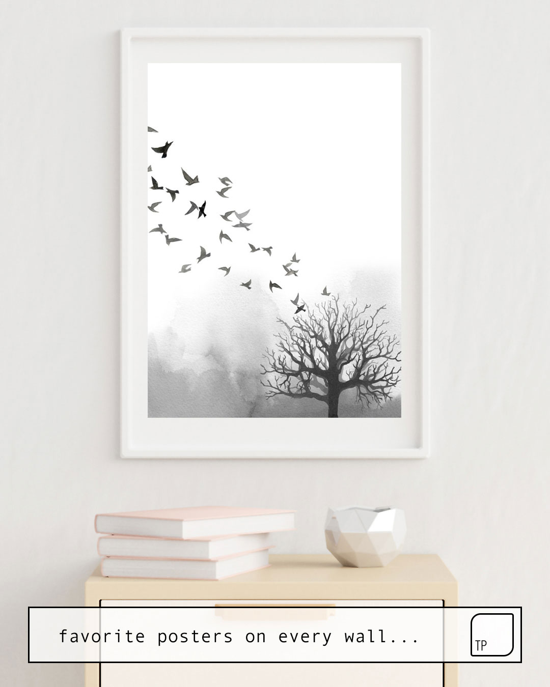 Affiche | BIRDS AND TREE par Art by ASolo