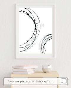 La foto muestra un ejemplo de decoración con el motivo BLACK ABSTRACT LINES. por Art by ASolo como un mural