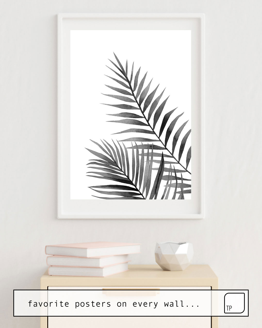 Poster | BLACK AND WHITE LEAVES. von Art by ASolo