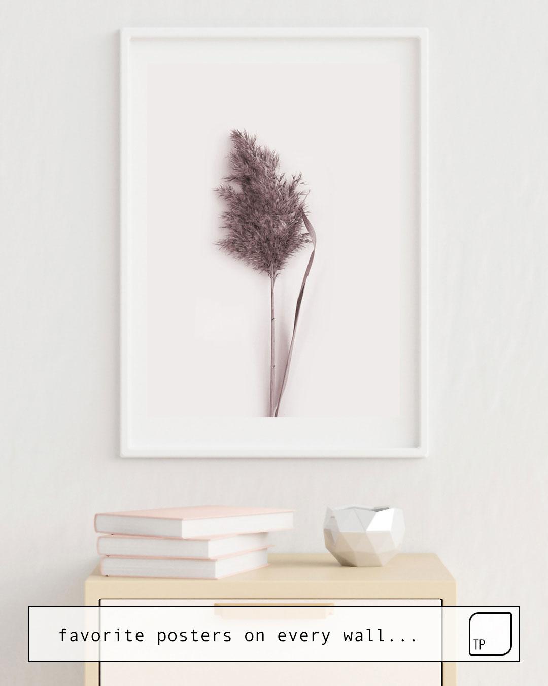 Das Bild zeigt ein Einrichtungsbeispiel mit dem Motiv DRIED PAMPAS GRASS von Art by ASolo als Wandbild