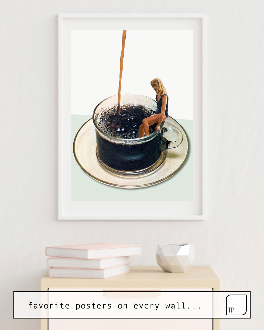 La foto muestra un ejemplo de decoración con el motivo COFFEE por Beth Hoeckel como un mural