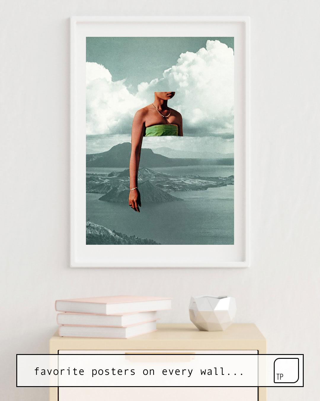 Das Bild zeigt ein Einrichtungsbeispiel mit dem Motiv DAYDREAM von Beth Hoeckel als Wandbild