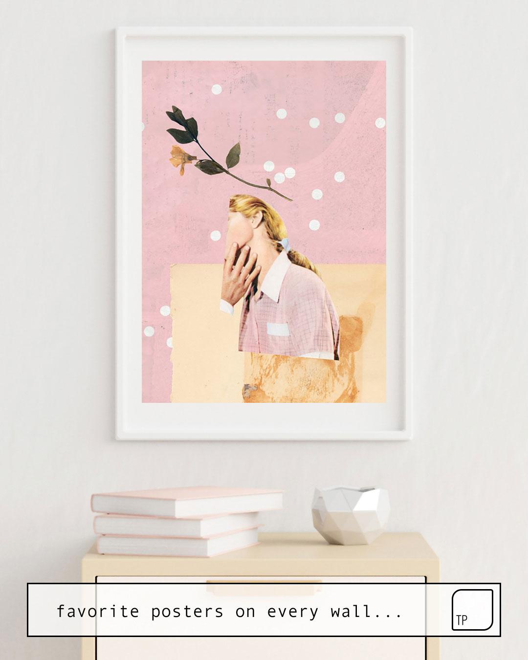 La foto muestra un ejemplo de decoración con el motivo LOVE LETTER por Beth Hoeckel como un mural