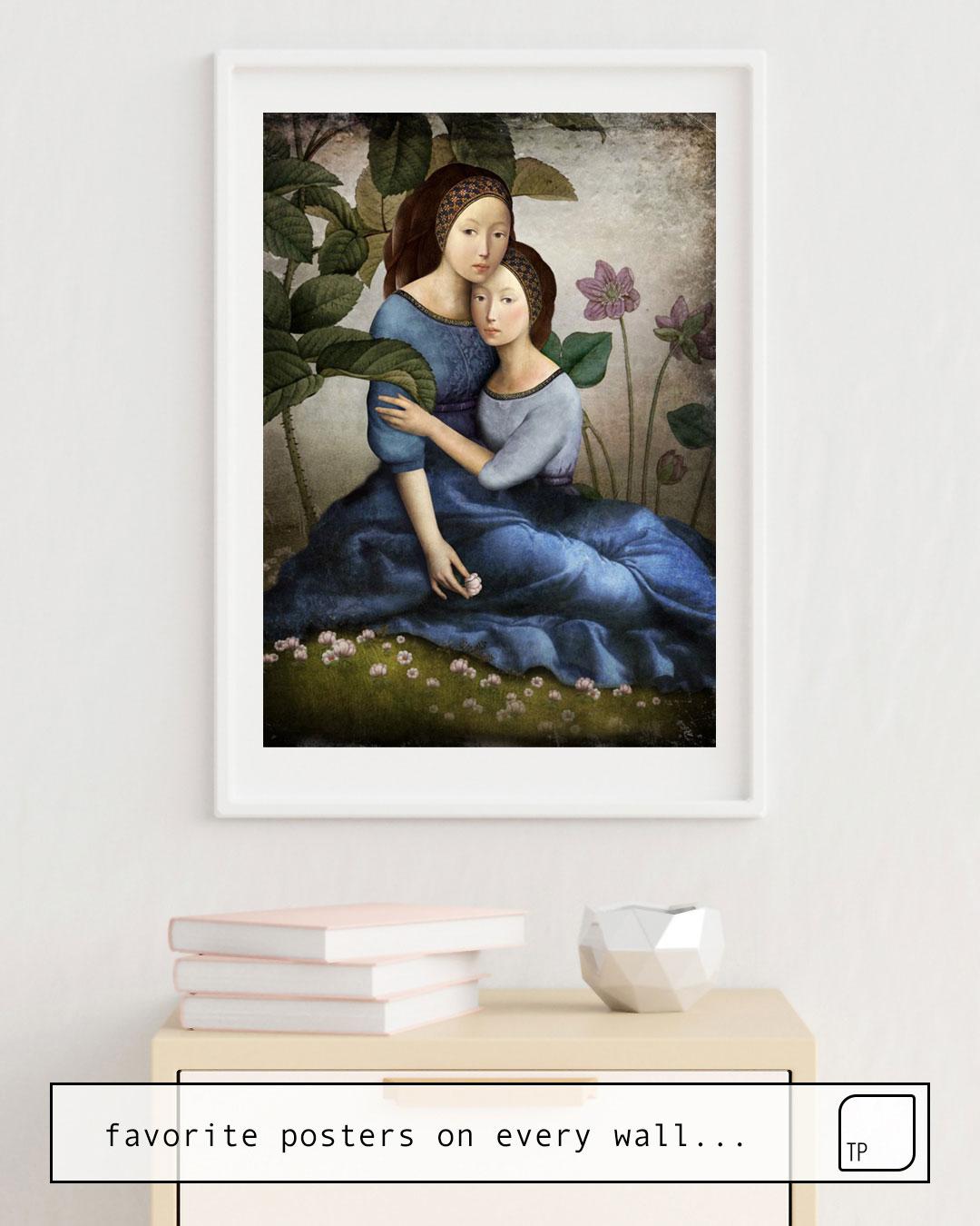 La foto muestra un ejemplo de decoración con el motivo BY YOUR SIDE por Christian Schloe como un mural
