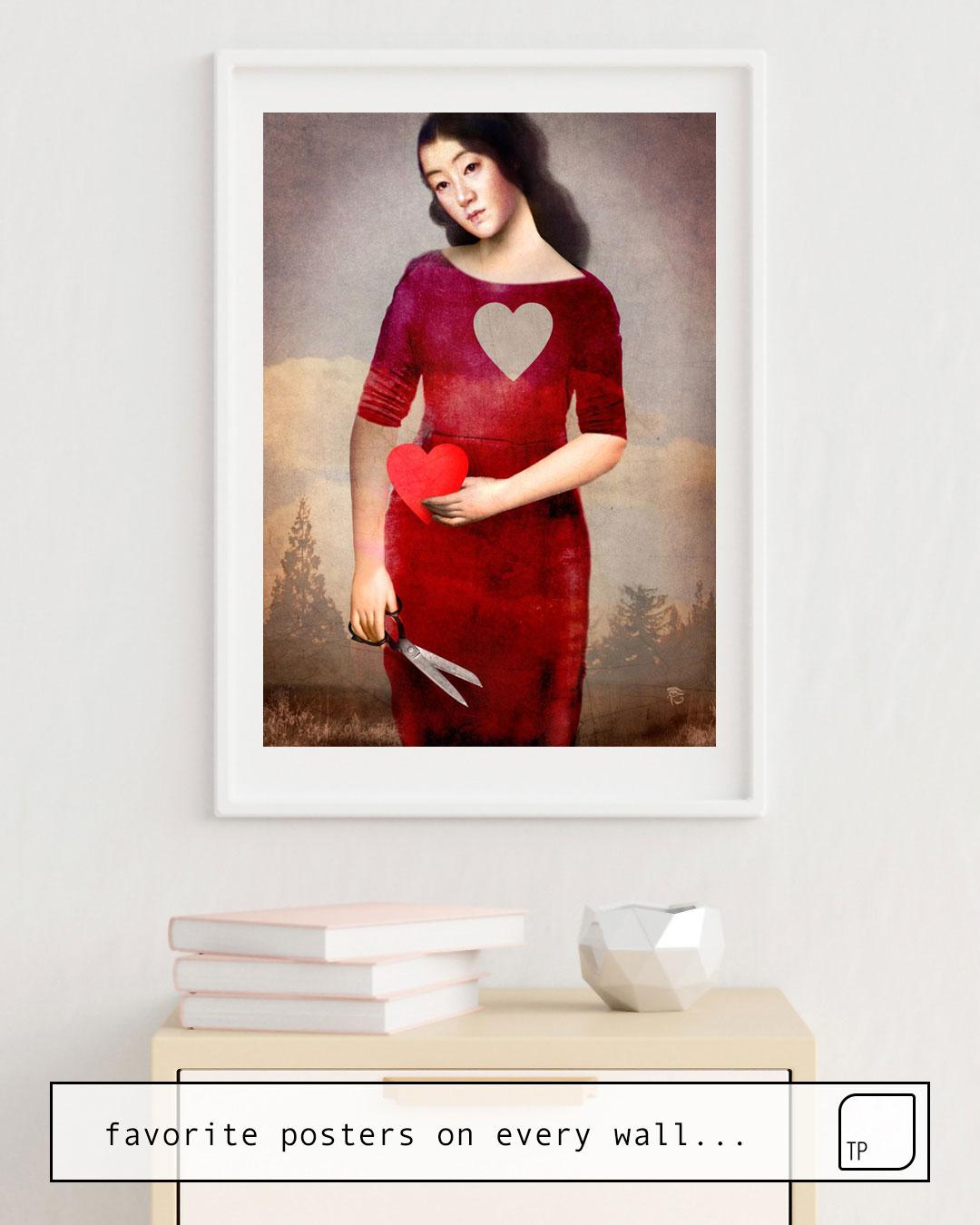 La foto muestra un ejemplo de decoración con el motivo FOR YOU por Christian Schloe como un mural