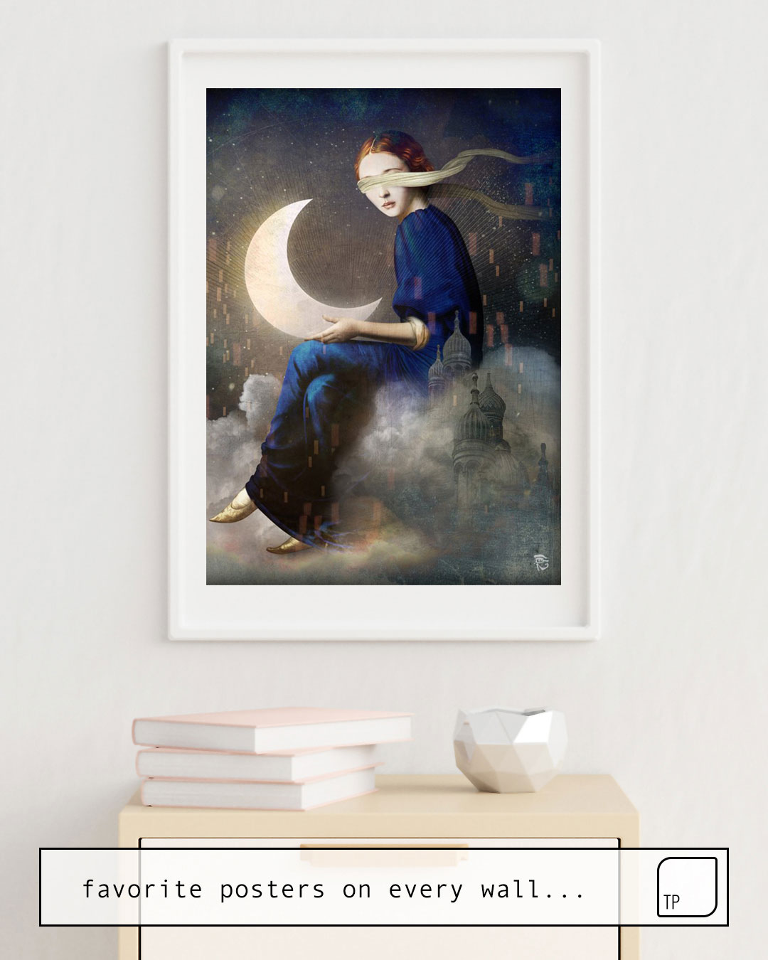 The photo shows an example of furnishing with the motif KINGDOM OF CLOUDS by Christian Schloe as mural