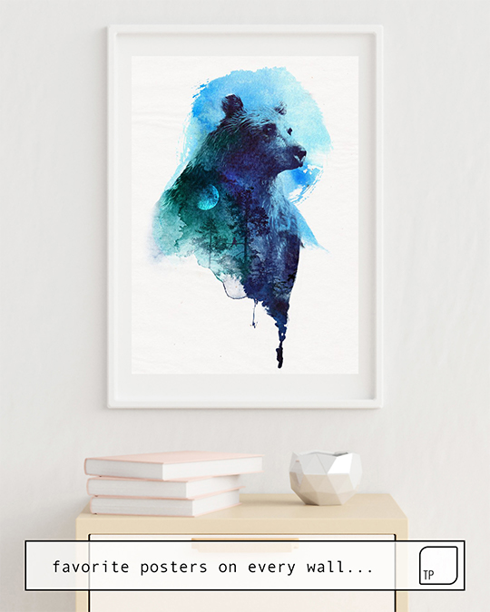 The photo shows an example of furnishing with the motif BEST FRIENDS FOREVER by Robert Farkas as mural