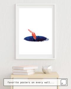 La photo montre un exemple d'ameublement avec le motif JUMP INTO NOWHERE par Robert Farkas comme peinture murale