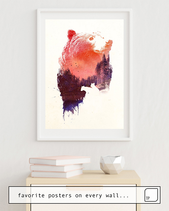 The photo shows an example of furnishing with the motif LOVE FOREVER by Robert Farkas as mural