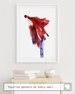 The photo shows an example of furnishing with the motif MY ONLY FRIEND by Robert Farkas as mural