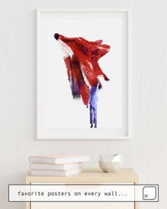 La photo montre un exemple d'ameublement avec le motif MY ONLY FRIEND par Robert Farkas comme peinture murale