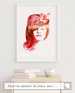 Das Bild zeigt ein Einrichtungsbeispiel mit dem Motiv PERFECT SILENCE von Robert Farkas als Wandbild