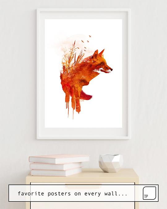 Robert Farkas Premium-Poster Schleichender Fuchs