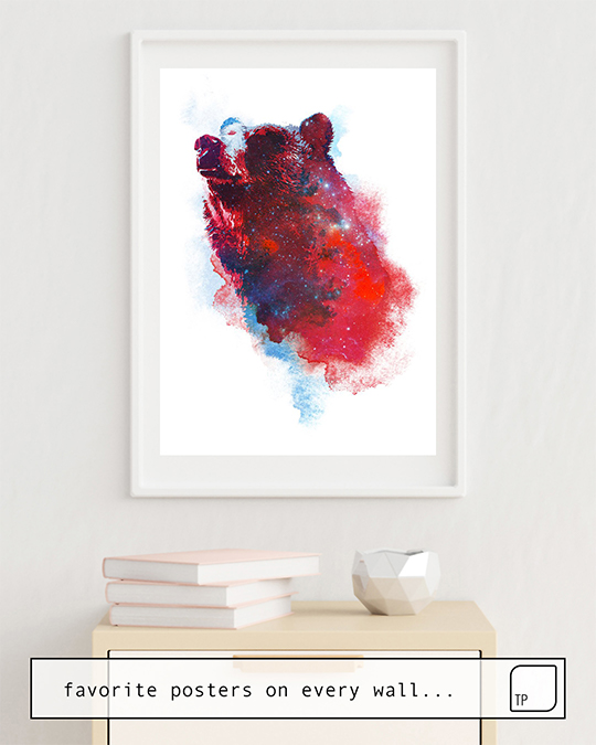 The photo shows an example of furnishing with the motif THE GREAT EXPLORER by Robert Farkas as mural