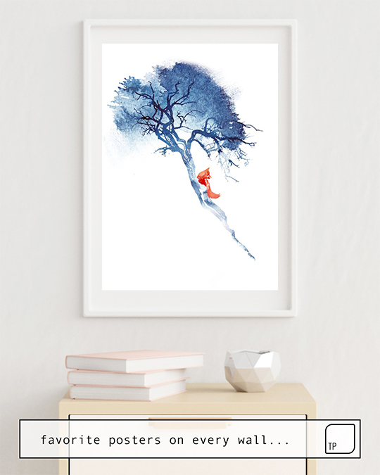 The photo shows an example of furnishing with the motif THERE'S NO WAY BACK by Robert Farkas as mural