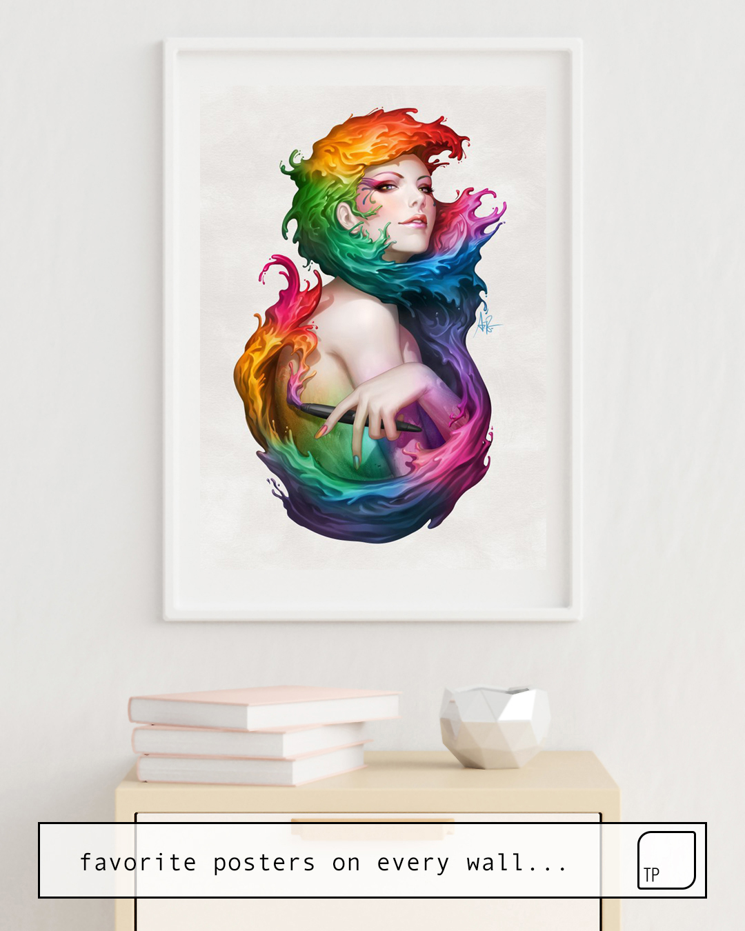 Poster | ANGEL OF COLORS by Stanley Artgerm Lau
