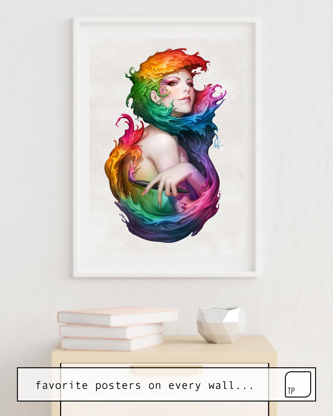 Affiche   ANGEL OF COLORS par Stanley Artgerm Lau