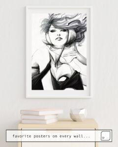 Das Bild zeigt ein Einrichtungsbeispiel mit dem Motiv PEPPER BELLA von Stanley Artgerm Lau als Wandbild