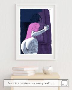 Das Bild zeigt ein Einrichtungsbeispiel mit dem Motiv BIG LOVE von Suzie-Q als Wandbild