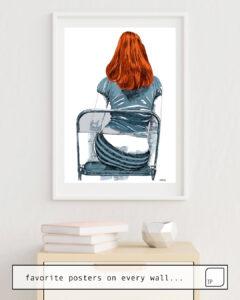 La photo montre un exemple d'ameublement avec le motif GINGER par Suzie-Q comme peinture murale