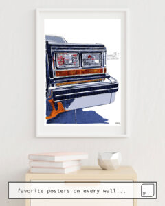 La foto muestra un ejemplo de decoración con el motivo HIT THE ROAD por Suzie-Q como un mural