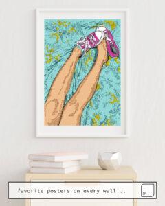 La photo montre un exemple d'ameublement avec le motif SWEET par Suzie-Q comme peinture murale