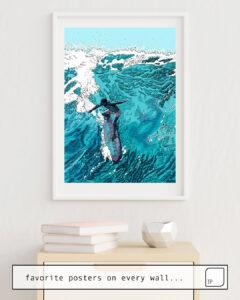 La photo montre un exemple d'ameublement avec le motif WIPE OUT par Suzie-Q comme peinture murale