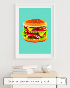 The photo shows an example of furnishing with the motif BURGERTIME! by Yetiland as mural