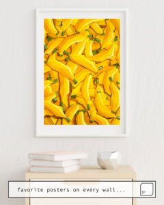 The photo shows an example of furnishing with the motif TOO MANY BANANAS by Yetiland as mural
