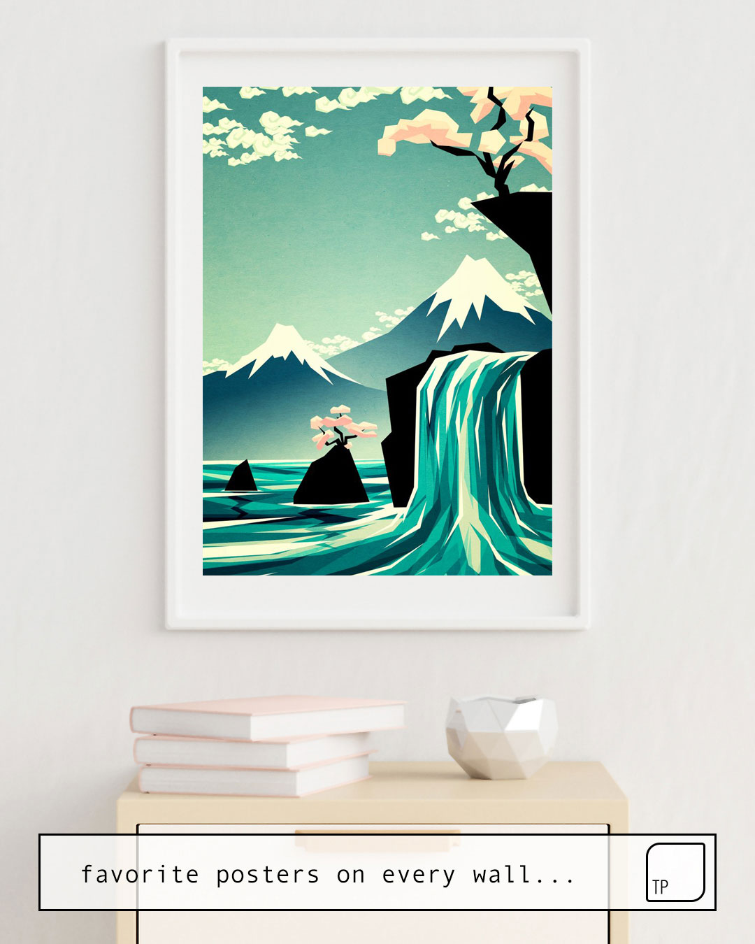Poster   WATERFALL BLOSSOM DREAM by Yetiland